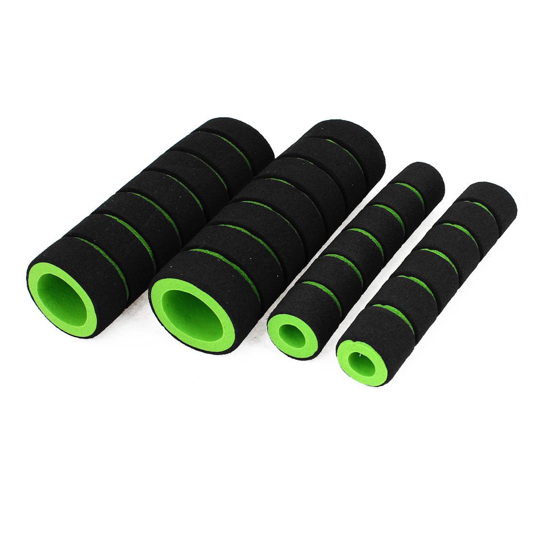 4 x Autobike Motorbike Foam Non-Slip Hand Grips Cover Black Green