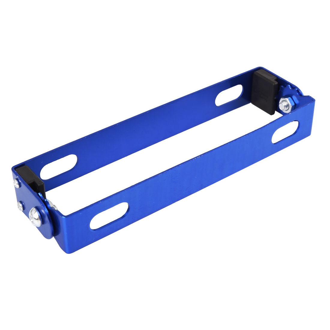 Motorcycle Adjustable Angle Blue Metal License Plate Holder Bracket
