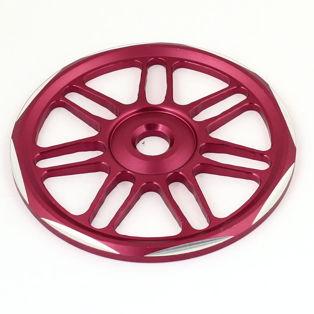 Autobike Motorcycle Metal Red Circle Shaped Wheels Fan Cover
