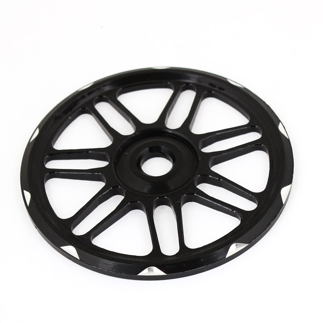 Motorcycle Black Metal Wheels Pattern Decorative Fan Cover