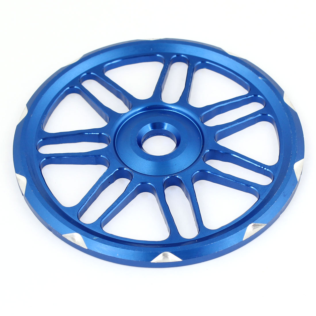 Motorcycle Blue Metal Wheels Pattern Decorative Fan Cover
