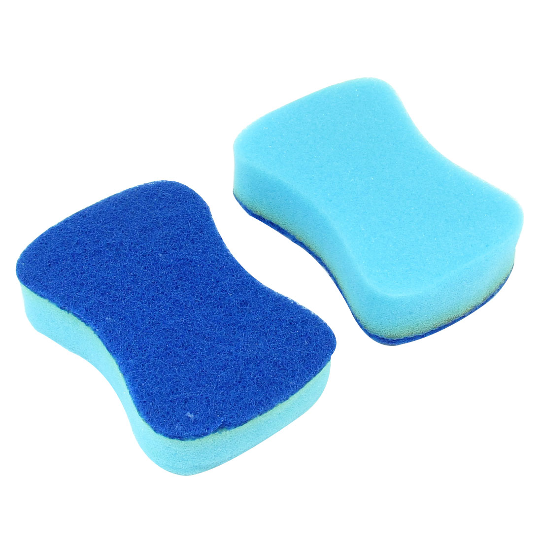 Kitchen Sponge Cyan Dark Blue Teapot Cookware Dish Pad Cleaner