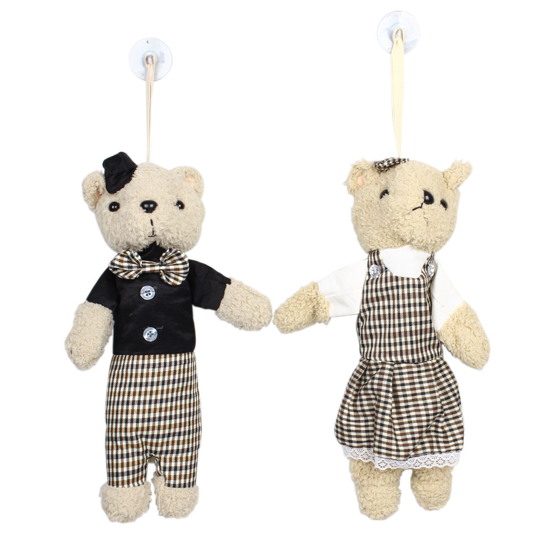 Couple Doll Bears Shaped Air Cleaner Bamboo Charcoal Bag 2pcs for Car