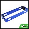 Motorcycle Adjustable Angle Blue Metal License Plate Holder Bracket