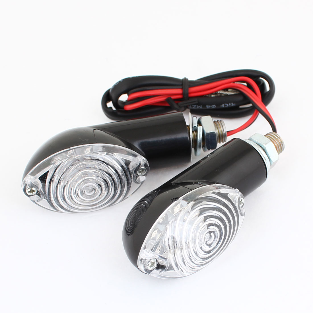 2PCS Yellow 12 LED Universal Turn Signal Light Indicator Lamps for Motorcycle