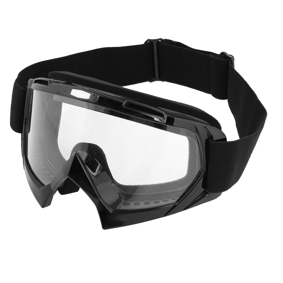 Sponge Interior Black Frame Clear Lens Motorcycle Protective Goggles Glasses