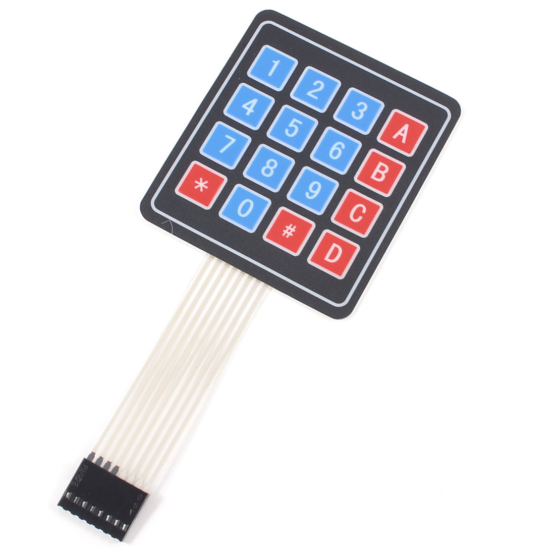 Array 4x4 16 Keys 8Pin Flex Flat Ribbon Cable Numeric Membrane Switch Keyboard