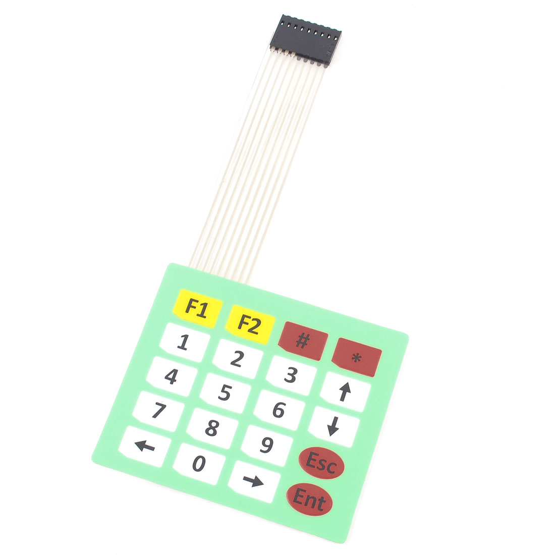 Array 4x5 20 Keys 8Pins Flex Flat Ribbon Cable Extended Numeric Membrane Switch Keyboard