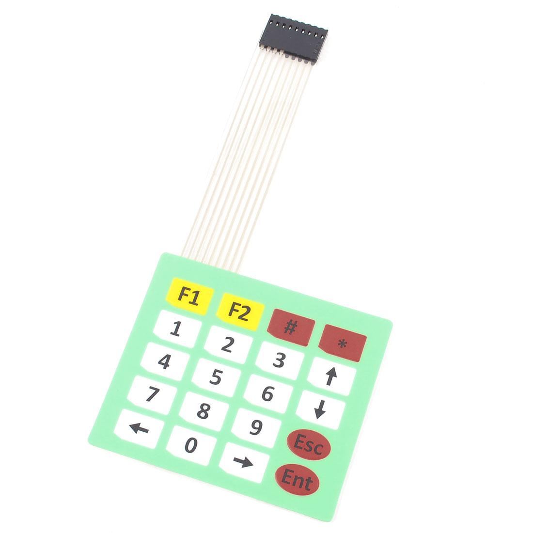 Array 4x5 20 Keys 8Pins Flex Flat Ribbon Cable Extended Numeric Membrane Switch Keyboard