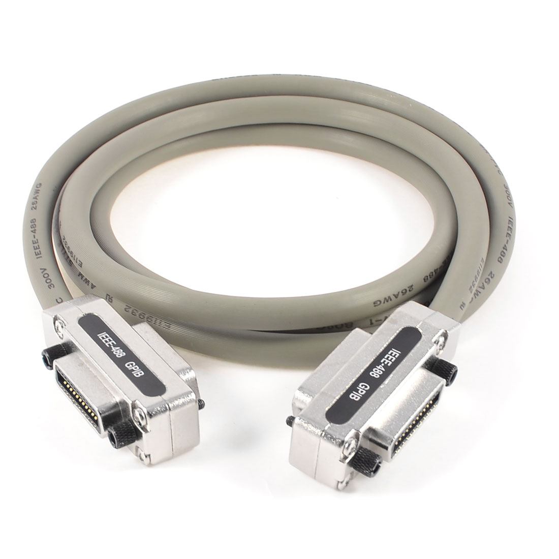 6.6Ft Length Gray IEEE-488 GPIB Connector Extension Cable