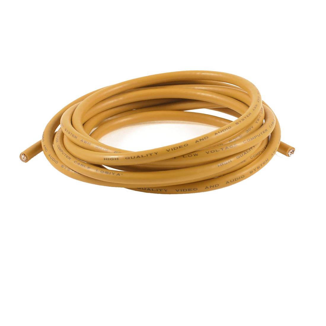 Audio 3 Meter Yellow Single Wire Extended Audio Cable