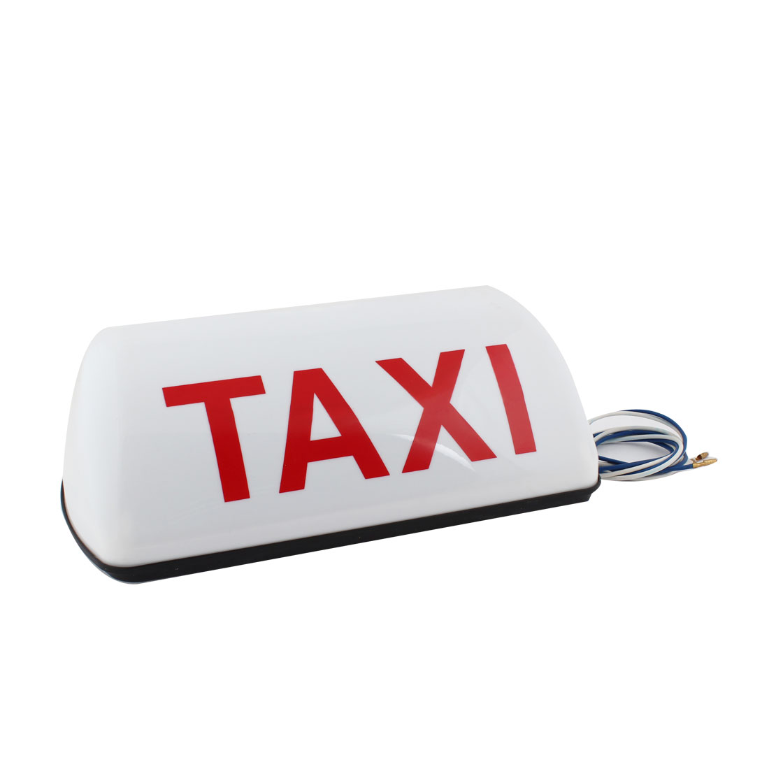 White Red Plastic Shell 2 Wires Yellow light Taxi Roof Lamp