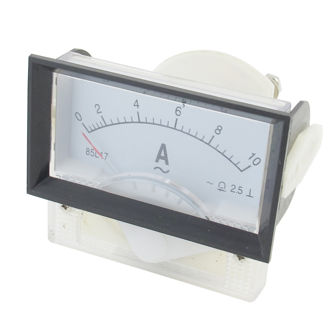 85L17 AC 0-10A 70mmx40mm Rectangular Analog Ampere Panel Meter Ammeter