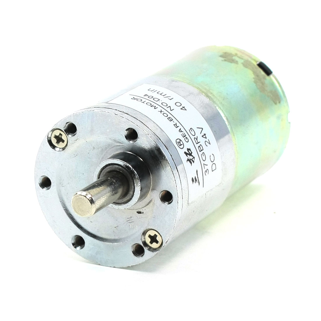 DC 24V 40 RPM 6mm Dia Shaft Magnetic Gearbox Electric Motor