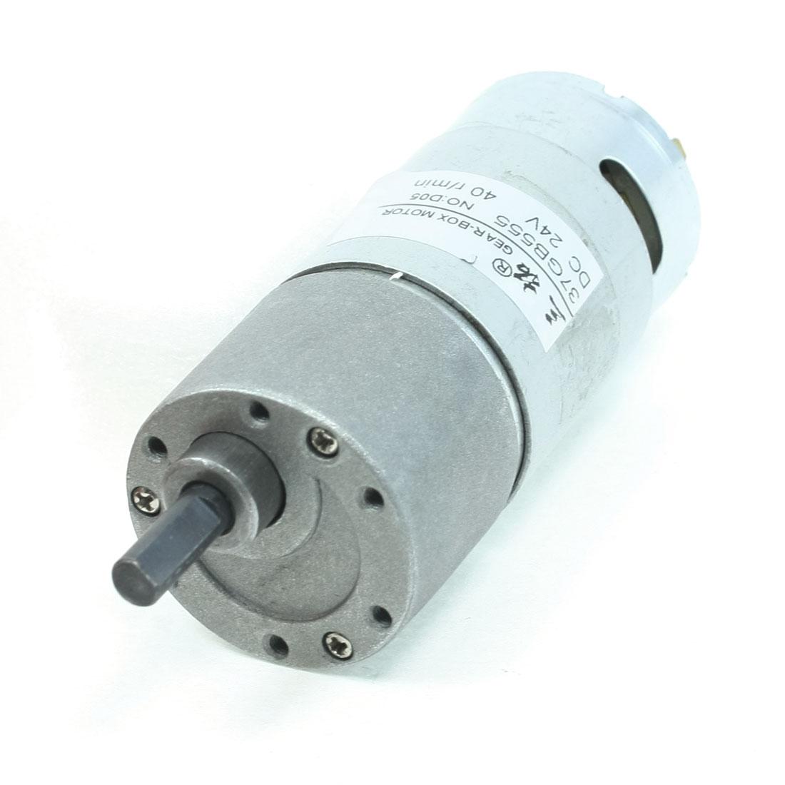 Output 40RPM DC24V 6mm Shaft Speed Reducer Round DC Gear Motor