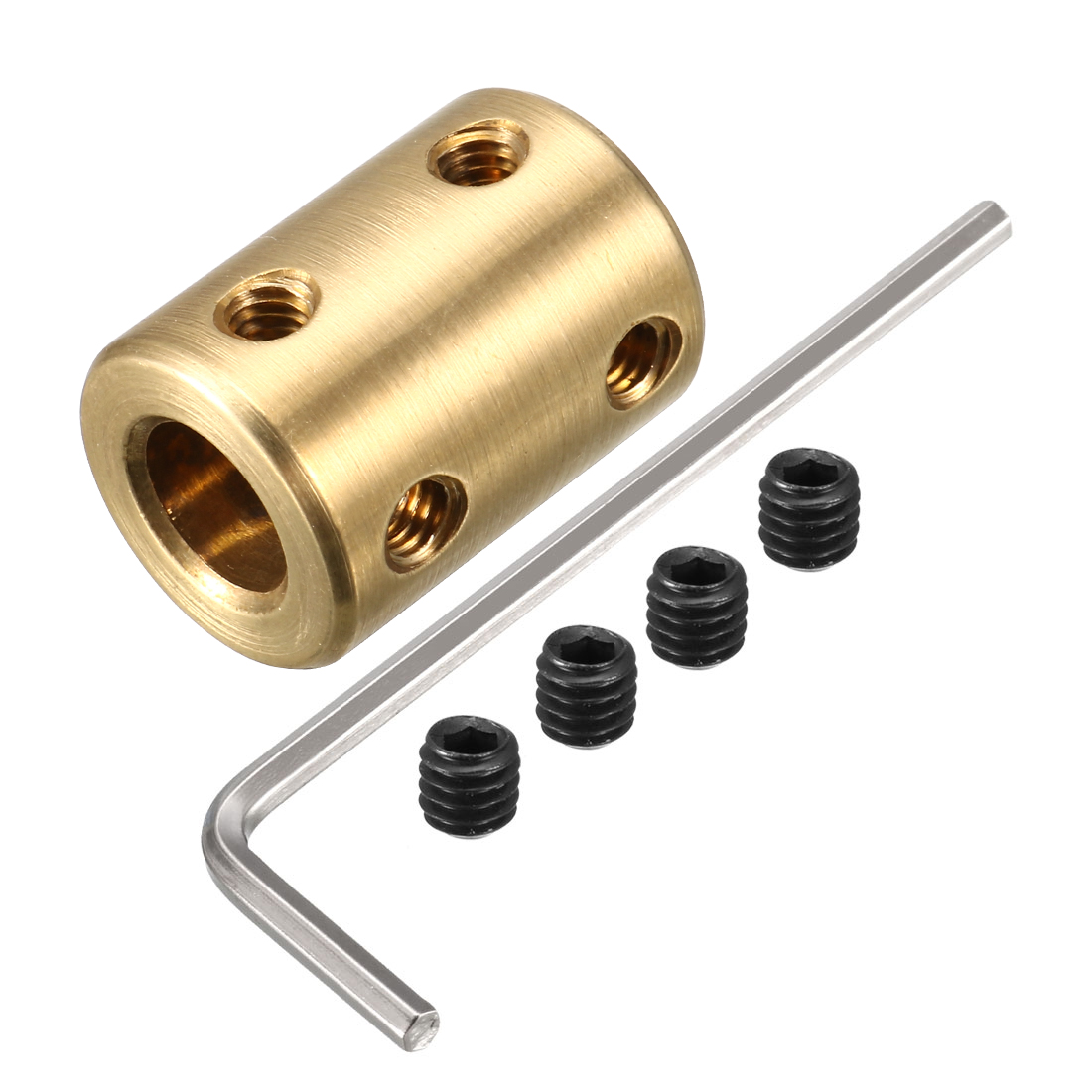 8mm Shaft Robot Rigid Copper Motor Coupling Coupler Connector w Tight Screws