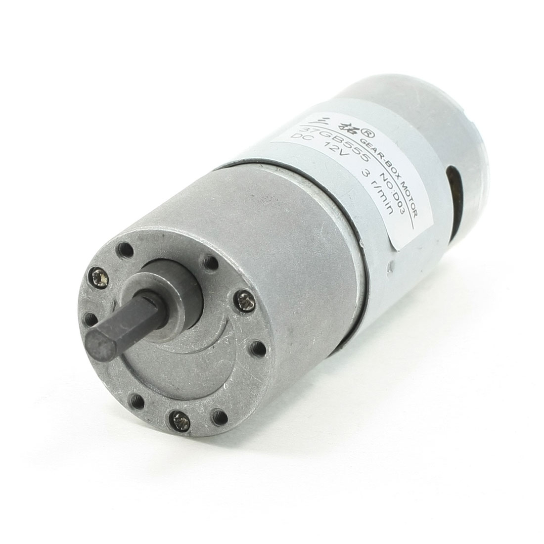 3RPM DC 12V 3A 36mm Diameter Gear Box Speed Reducer Motor