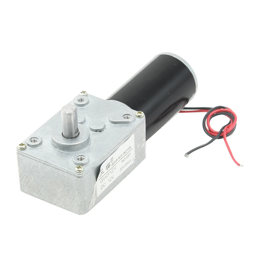 8mm Dia Shaft Rectangle Permanent Planet Gear Box Motor 35RPM DC 12V