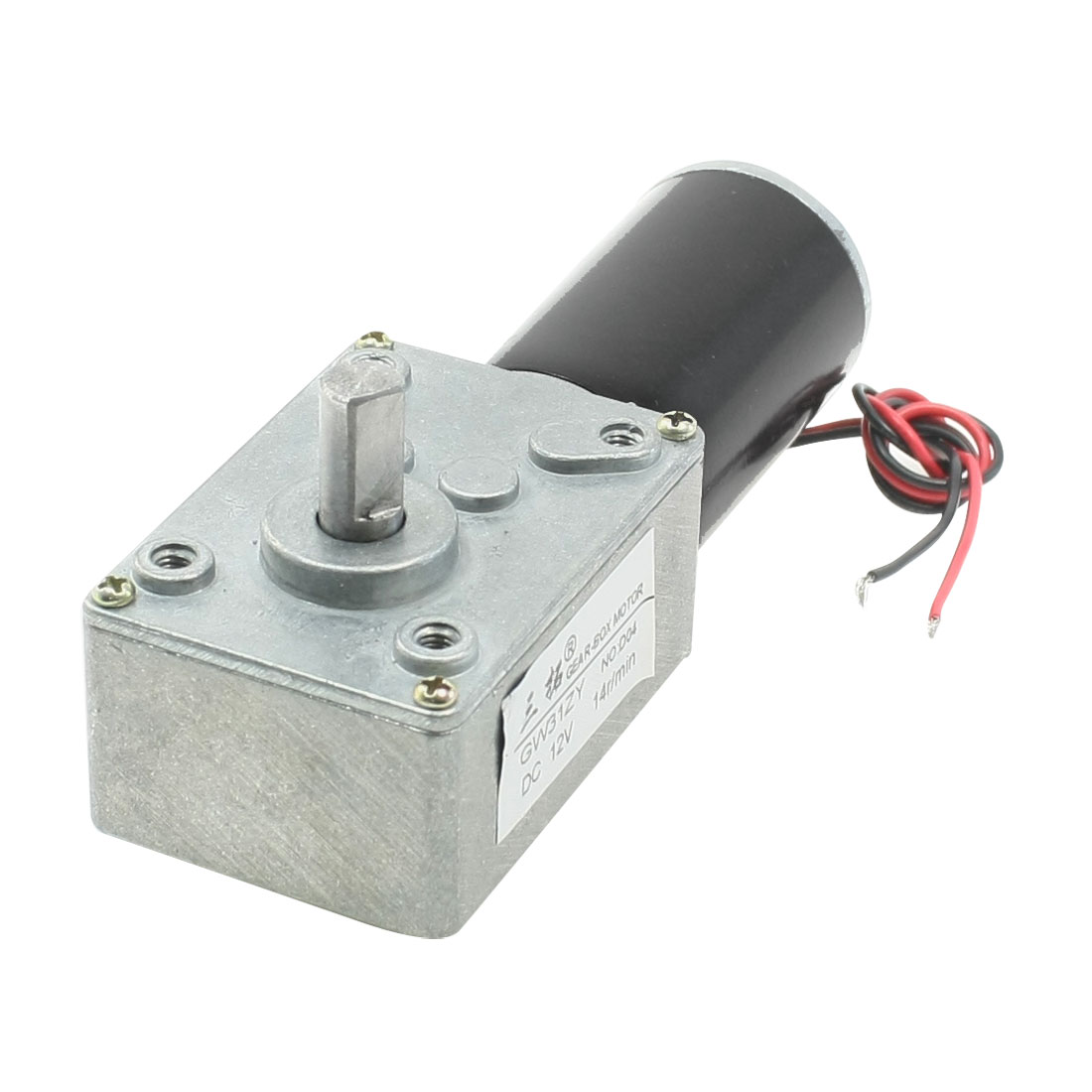 8mm Dia Shaft Rectangle Permanent Planet Gear Box Motor 14RPM DC 12V