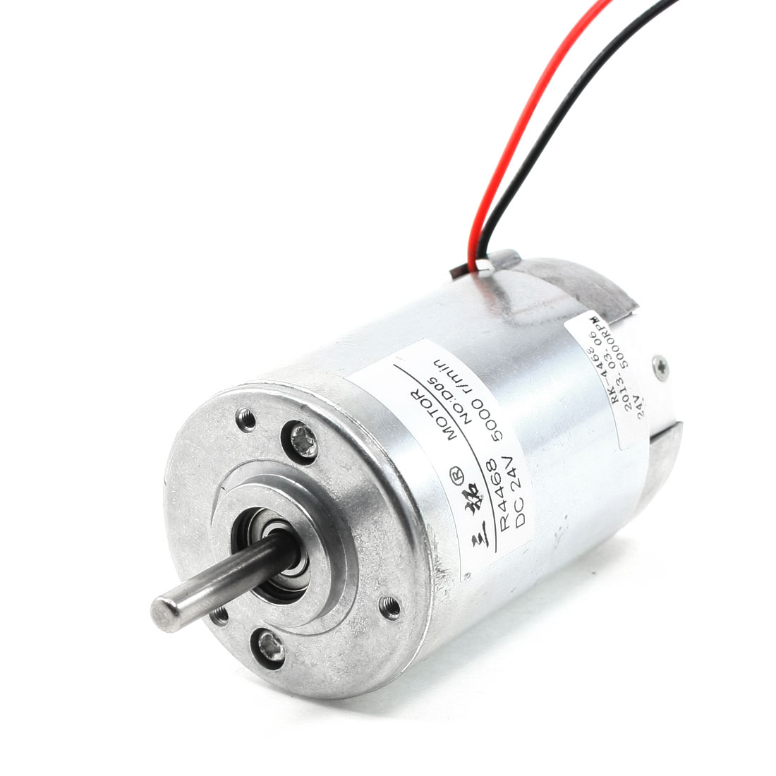24V 5A 5000RPM 2-Wire Connector Speed Reduce DC Gearbox Motor