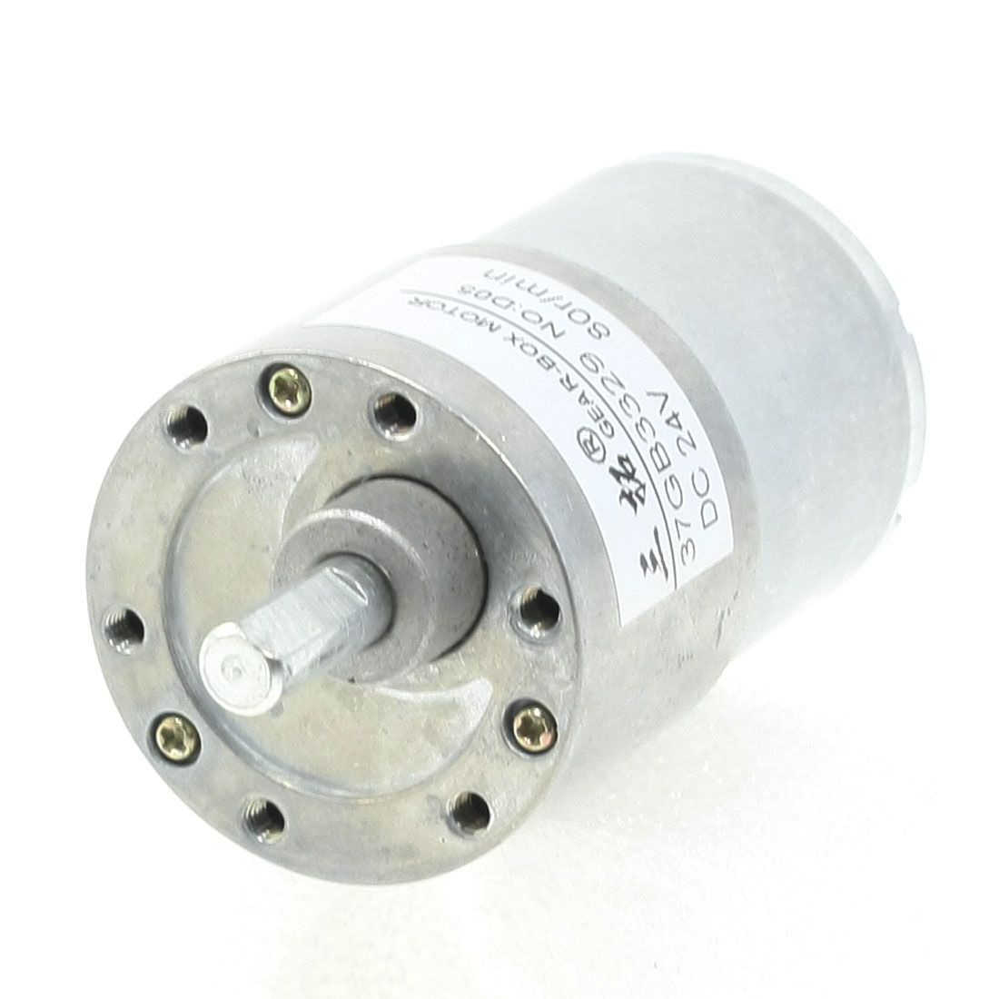 6mm Dia Shaft 2 Terminals DC 24V 80RPM DC Gear Motor
