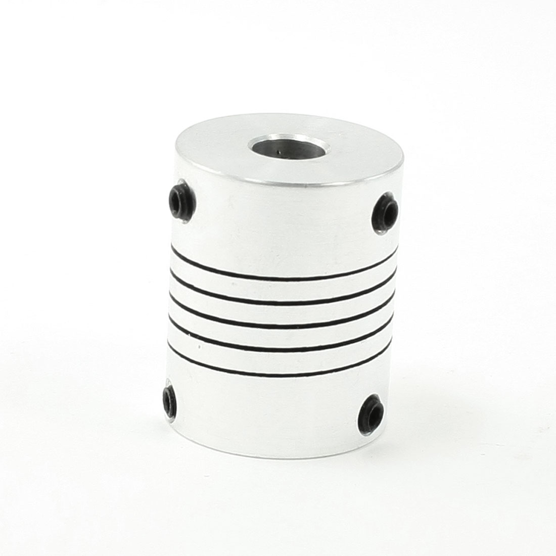 8mm to 8mm Shaft Set Screw 25x30mm Beam Coupling Coupler Silver Tone