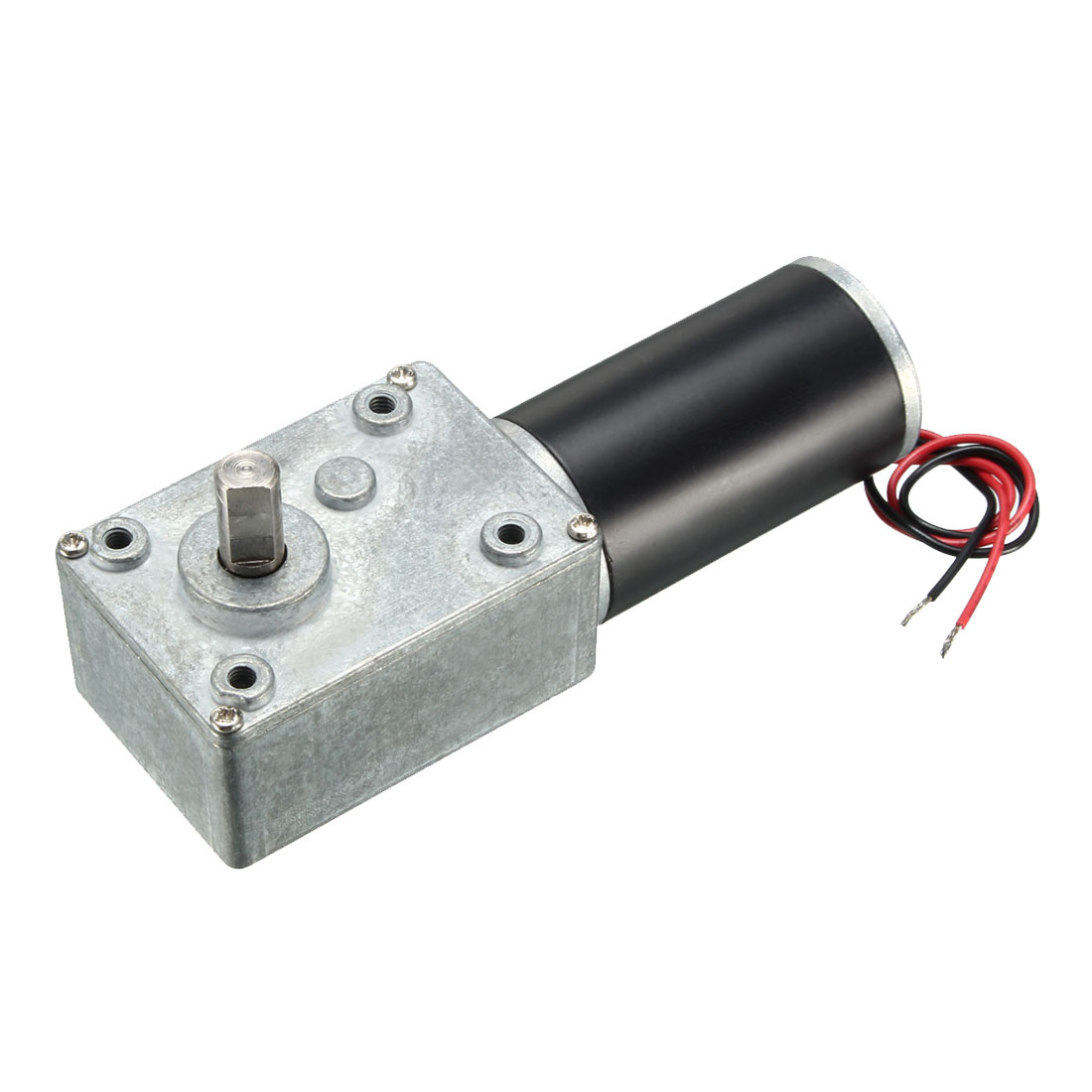 27RPM DC 24V 8mm Dia Shaft 2 Wires Gearbox Electric Geared Motor