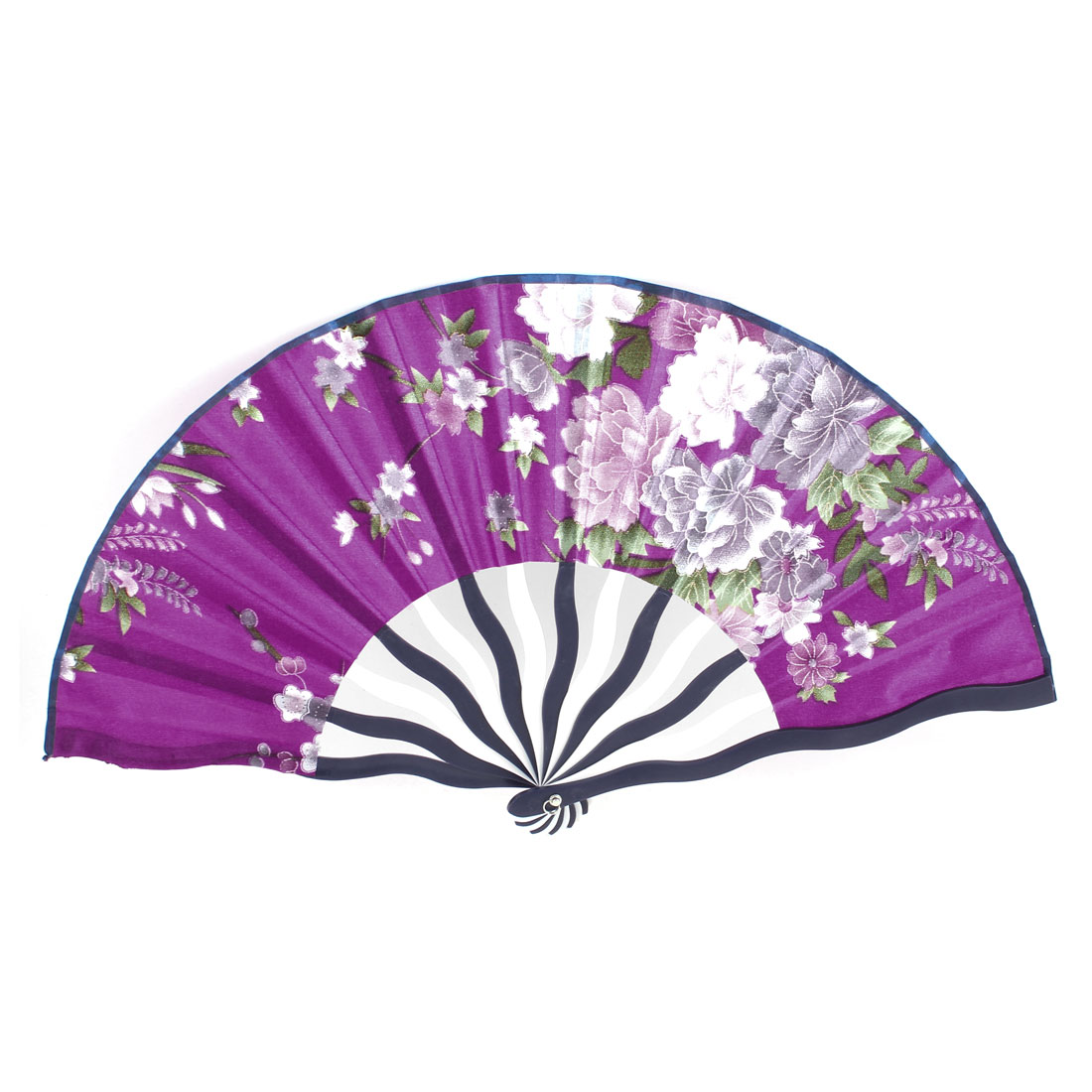 Purple White Pink Peony Flower Pattern Chinese Hand Fan for Lady