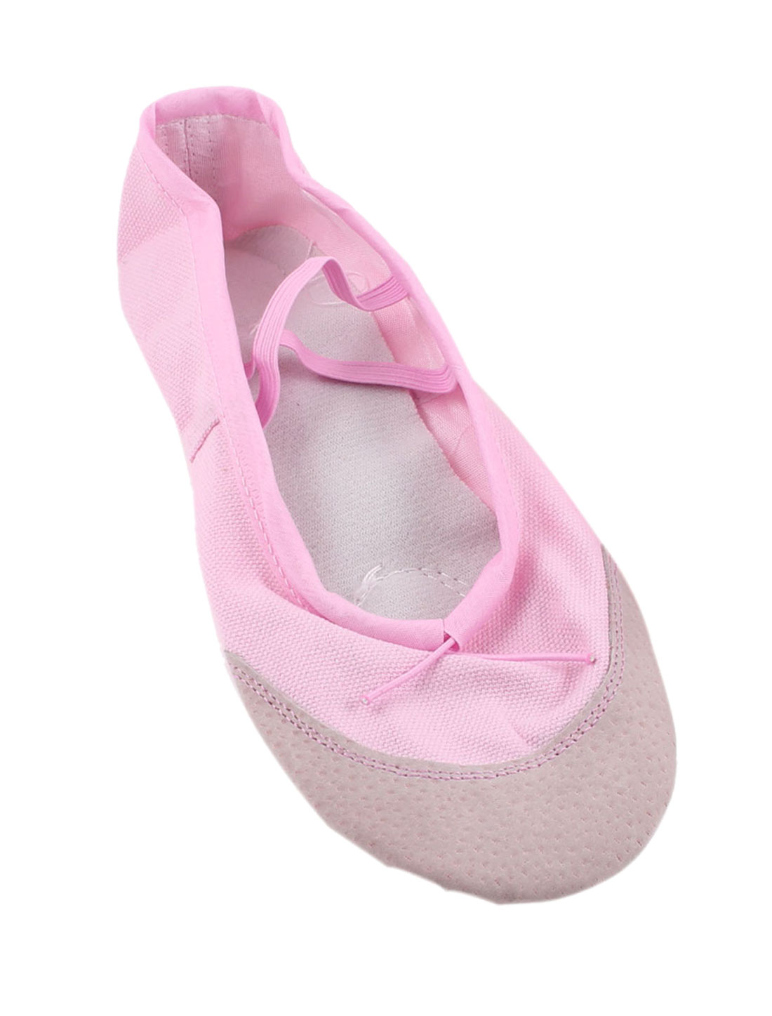 Pink Faux Leather Split Sole Canvas Ballet Flats Shoes UK Size 5 for Ladies