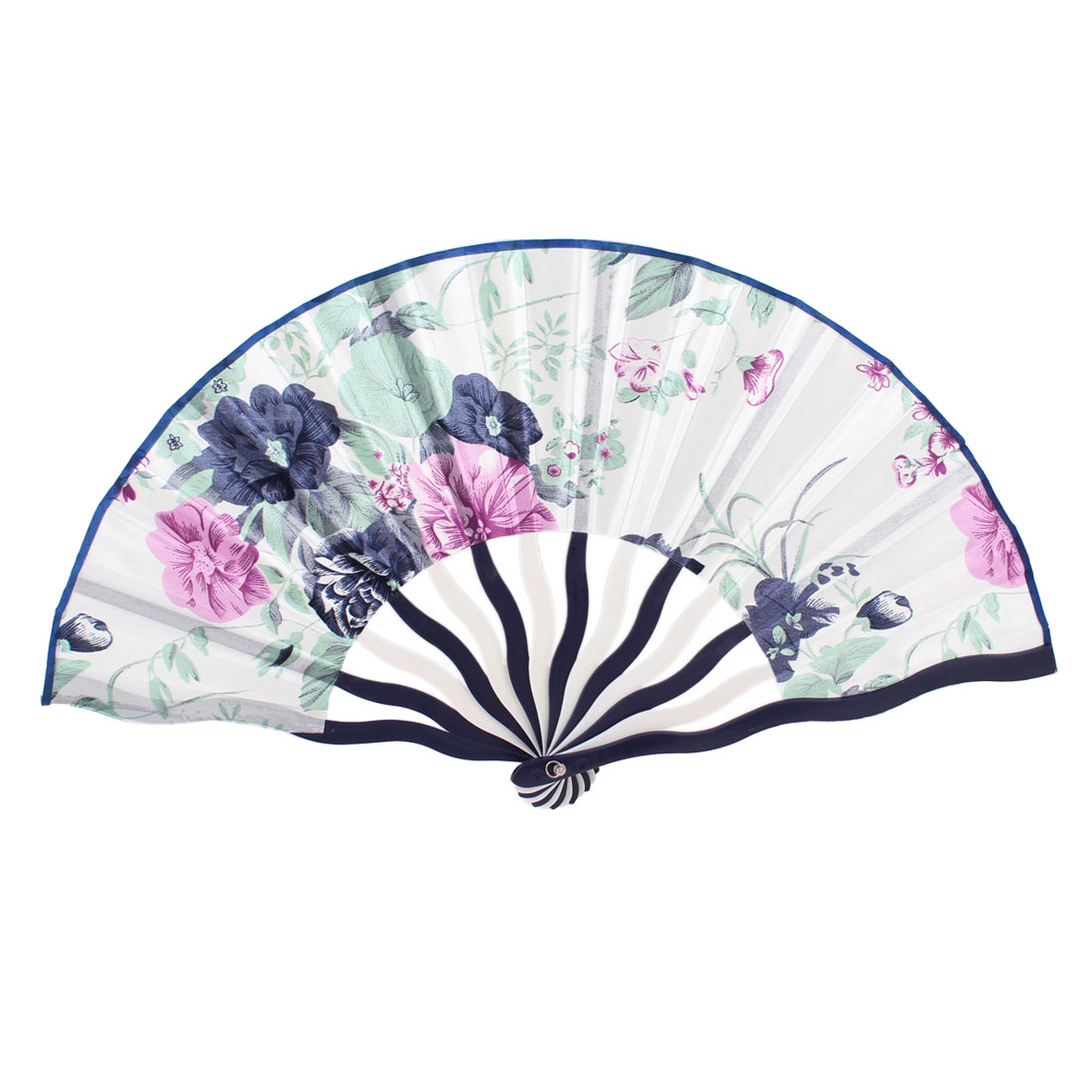 Plastic Frame White Base Foldaway Summer Cooling Hand Fan for Ladies