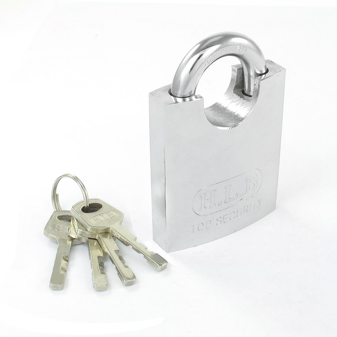 Home Shop Stainless Steel Full Wrapped Shackle Security Padlock 9cm w 4 Keys