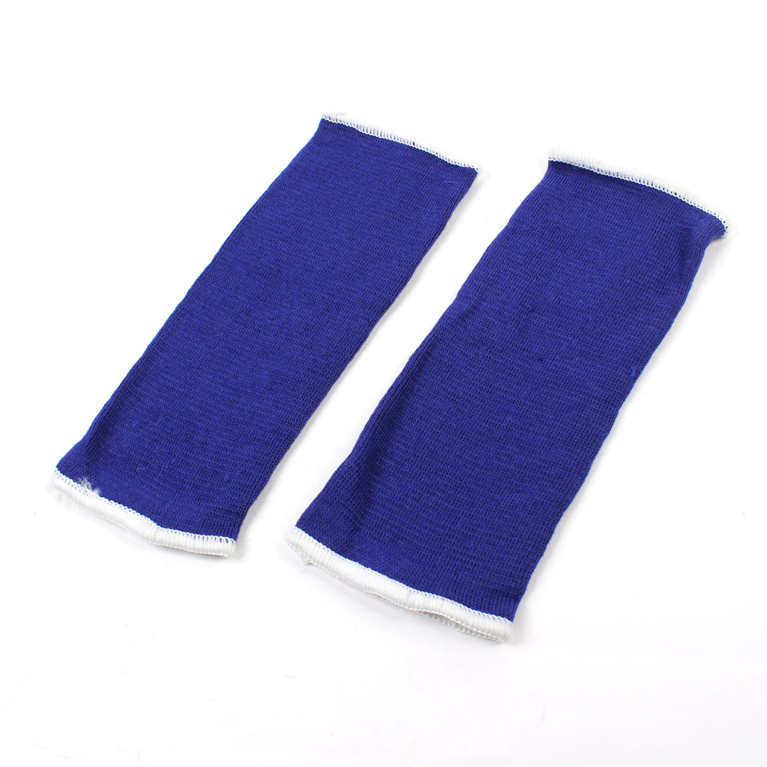 Pair White Hem Blue Stretch Knitting Breathable Elbow Sleeve Support