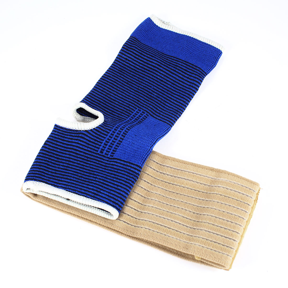 Football Fastener Band Ankle Support Guard Blue Beige