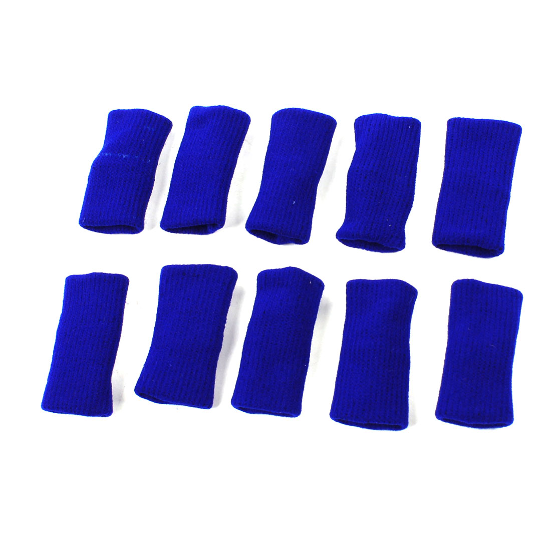 10 Pcs Blue Stretch Fingers Sleeve Cover Band for Basketball Volleyball