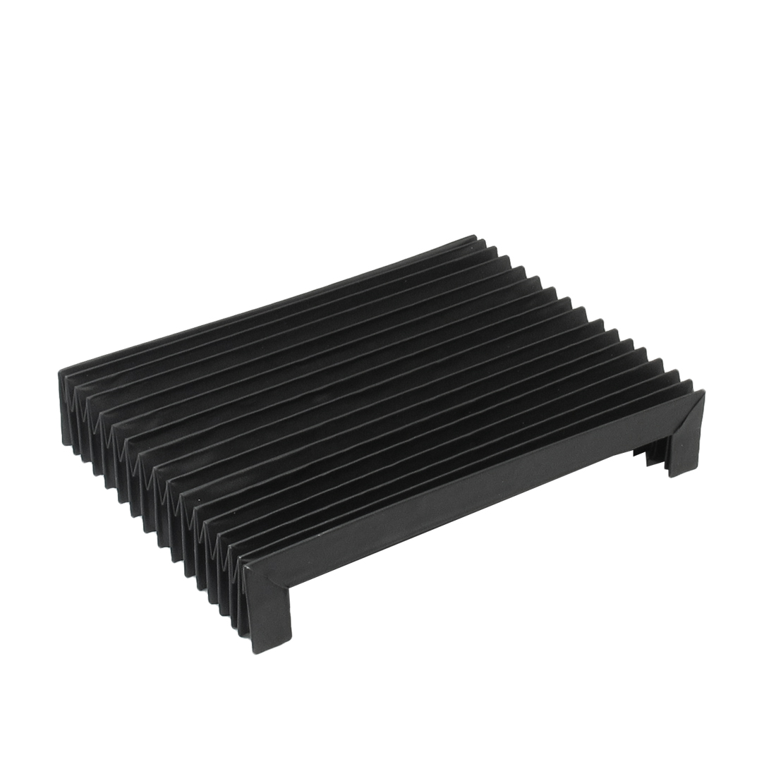 CNC Machine Flexible Accordion Shaped Black Plastic Dust Cover
