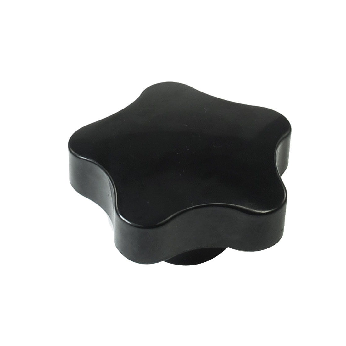 16mm Dia Female Thread Black Plastic Grip Replacement Star Knob