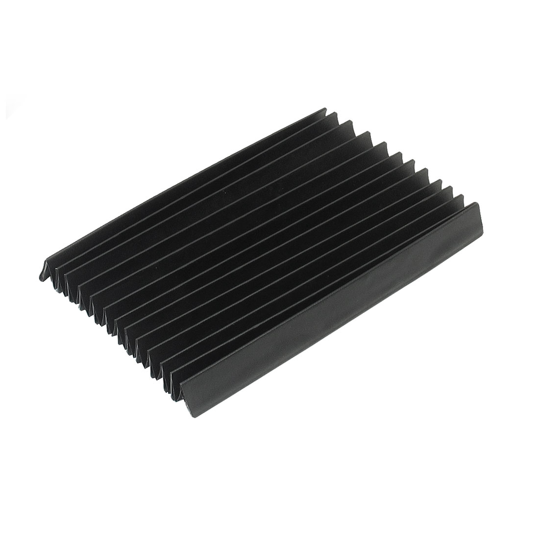 Black Metal Plastic Frame Rubber Dust Cover for CNC Machine