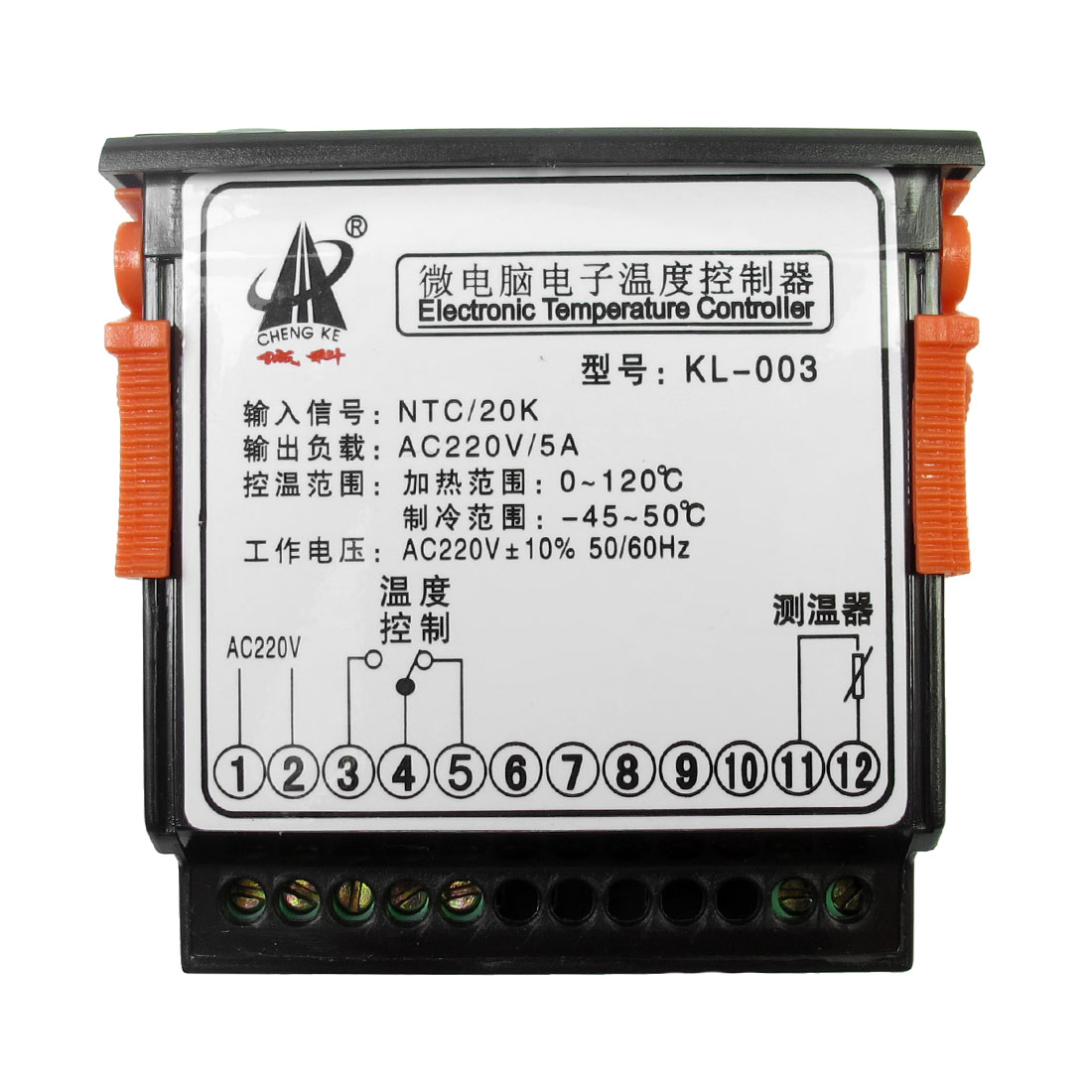 AC 220V Digital Thermostat Temperature Controller KL 003 w Sensor Cable