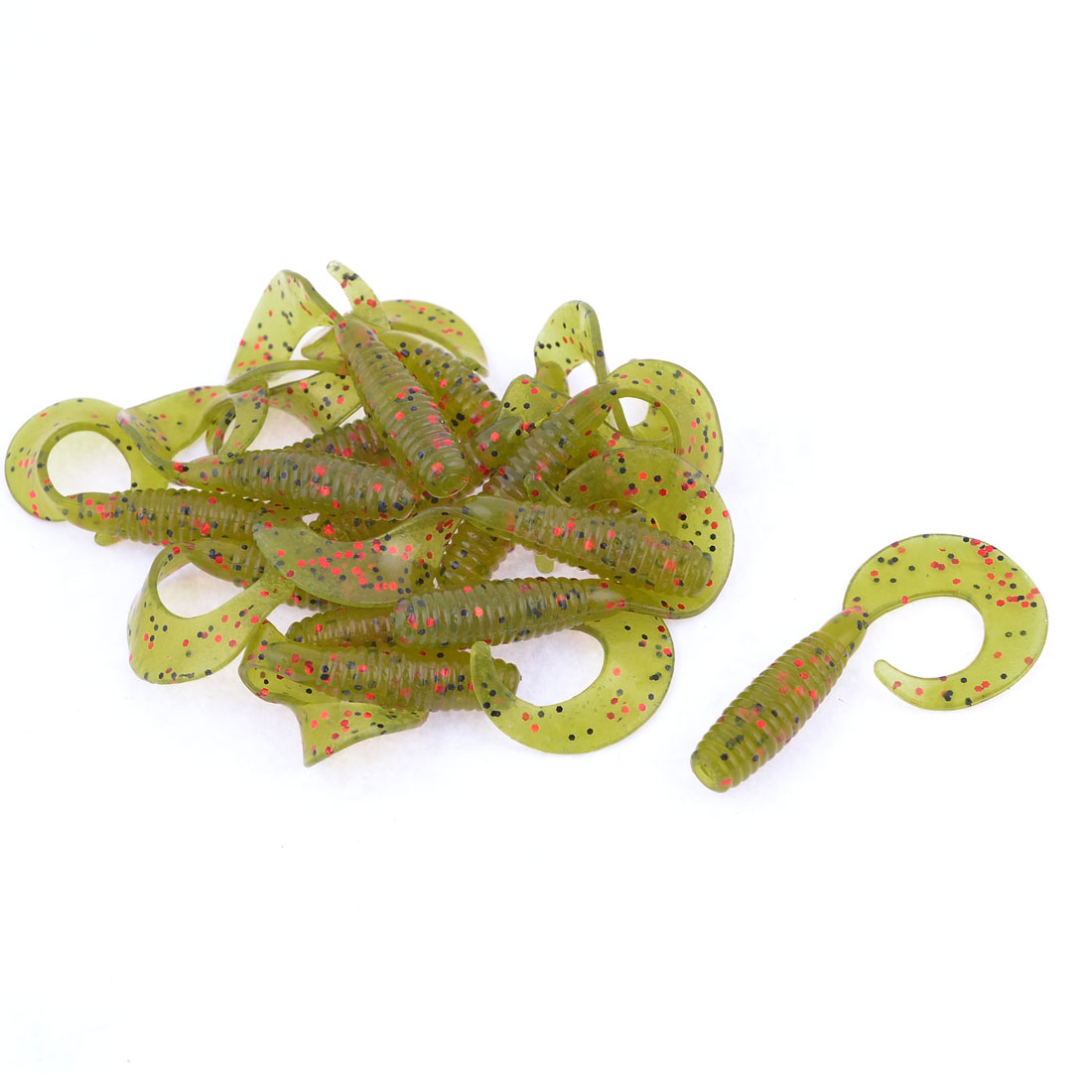 Multicolored Worm Shaped Silicone Fishing Fish Soft Lures Baits Bait 14 Pcs
