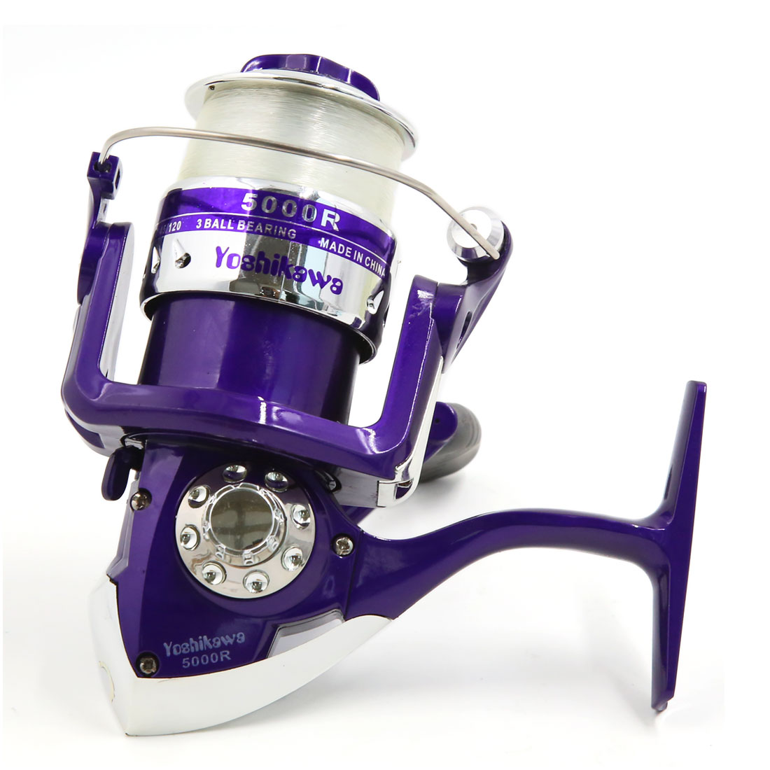 3BB Ball Bearings 4.7:1 Saltwater Freshwater Foldable Right Left Handle Fishing Spinning Reel 5000R