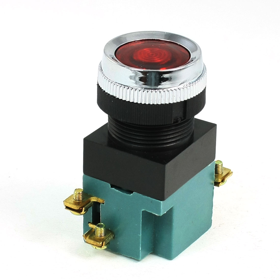 AC 380V 5A SPDT Momentary Contact Red Round Push Button Switch
