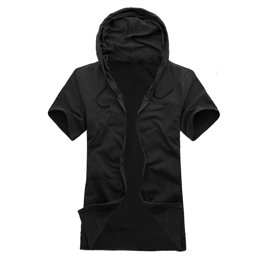 Mens Easy Matching With Pockets Casual Fashional Black Hoodie M