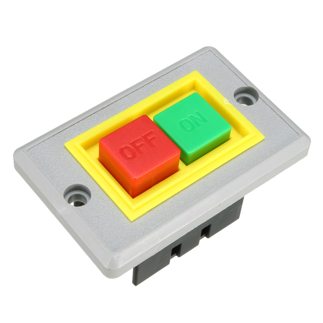 AC 380V 5A ON/OFF 2-Position Latching Start Stop Power Push Button Switch