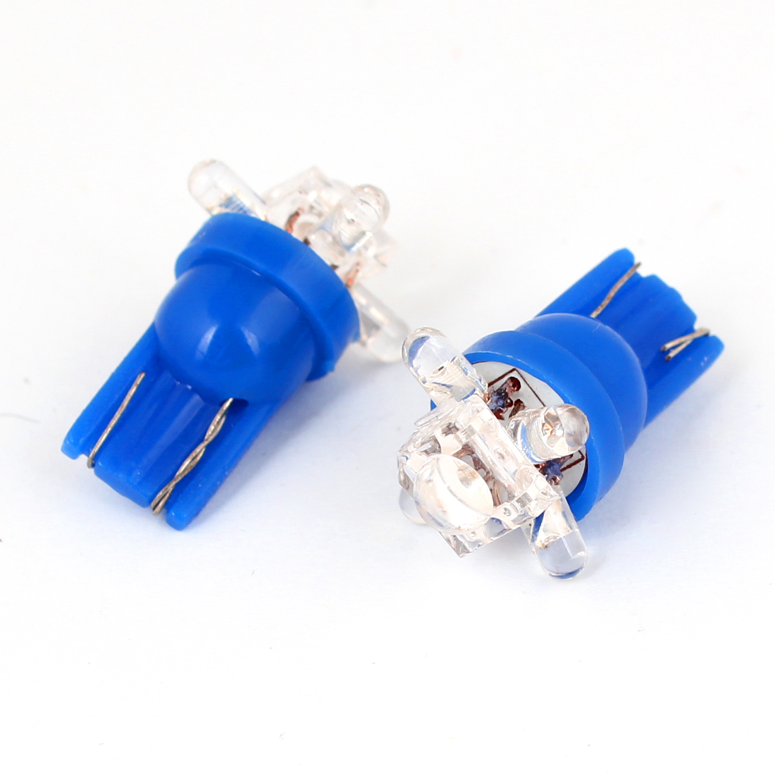 T10 Blue 5 LED Wedge Lamp Dashboard Light Bulb 2 Pcs for Car