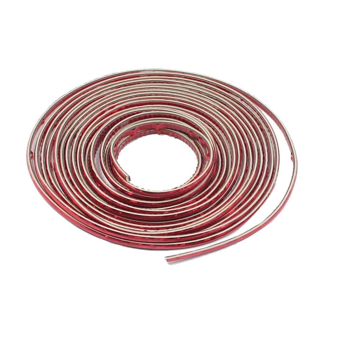 Car Van Interior Exterior Flexible Slim Moulding Trim Strip Glittery Red 5M x 4mm