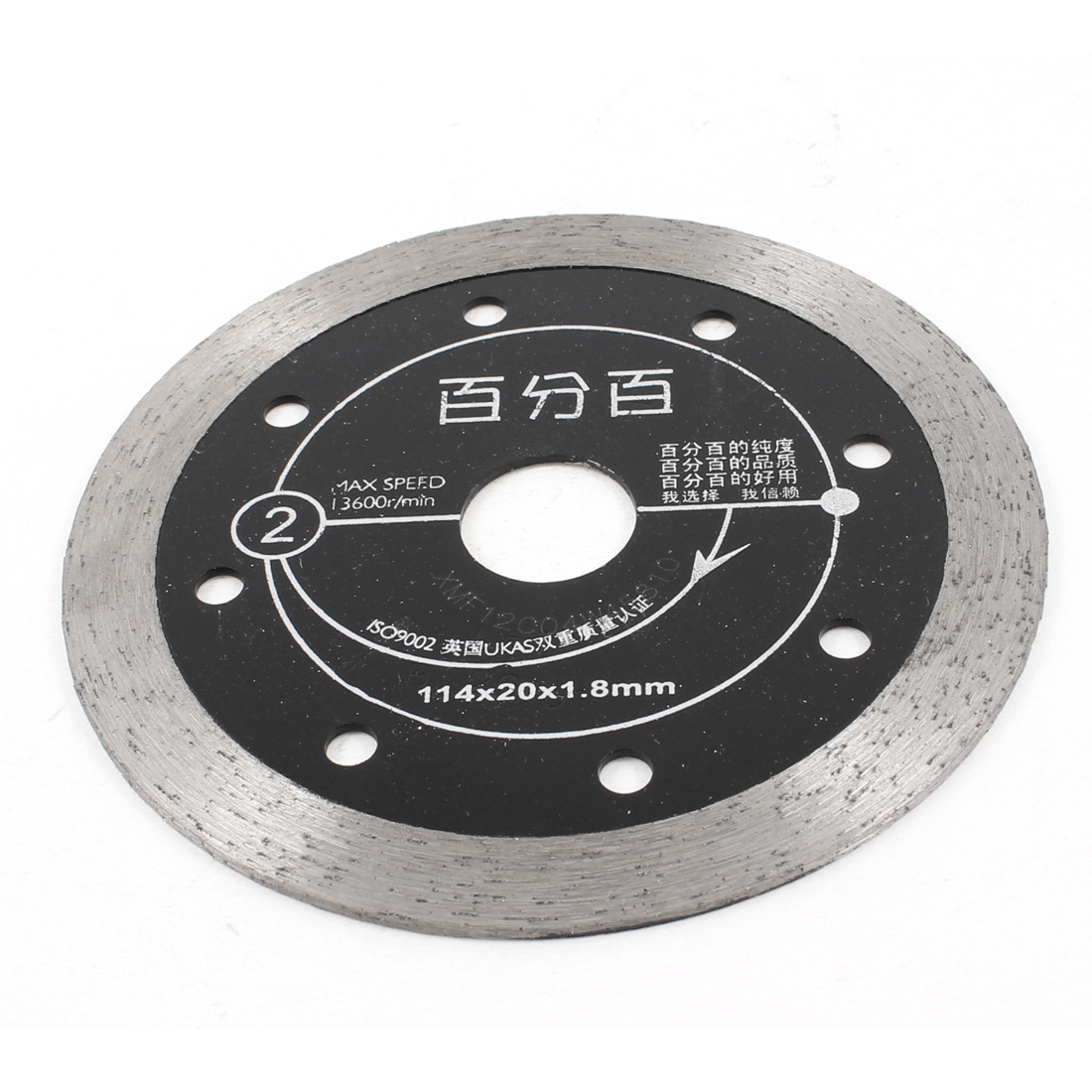 "4.4"" Outside Dia Double Side Stone Ceramic Cutting Diamond Saw Slice Disc"