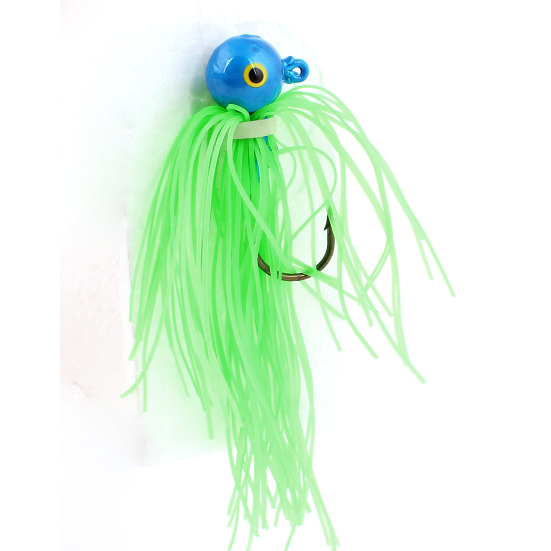 Fishing Light Green Soft Silicone Beard Design Fish Lure Bait Fishhook