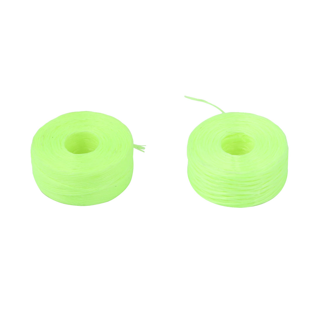300M Length 1.5# Thread 4.8Kg Fishing Nylon Line String Yellow Green 2 Pcs