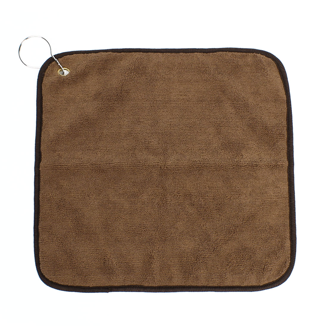 Brown Square Shape Microfiber Wash Cloth Facecloth Face Hand Towel