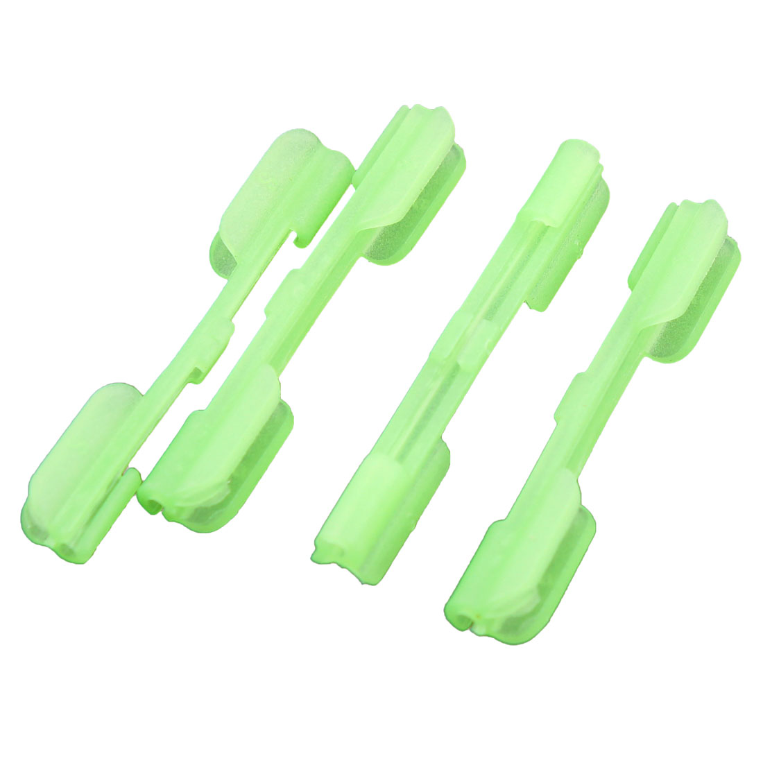 4PCS Fishing Tackle Light Green Plastic Luminous 2.5mm Inner Dia Sleeve Tubes